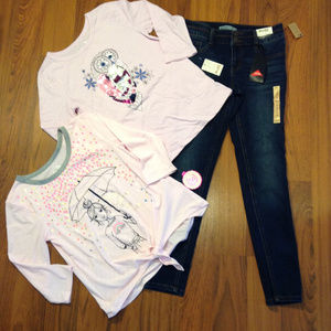 MUDD & SO SHIRT & Jeans 3pc Set Girl's SIZE 12 NEW